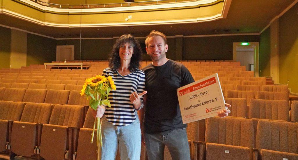 Ester Ambrosino und Stefan Kirmse vom Tanztheater Erfurt